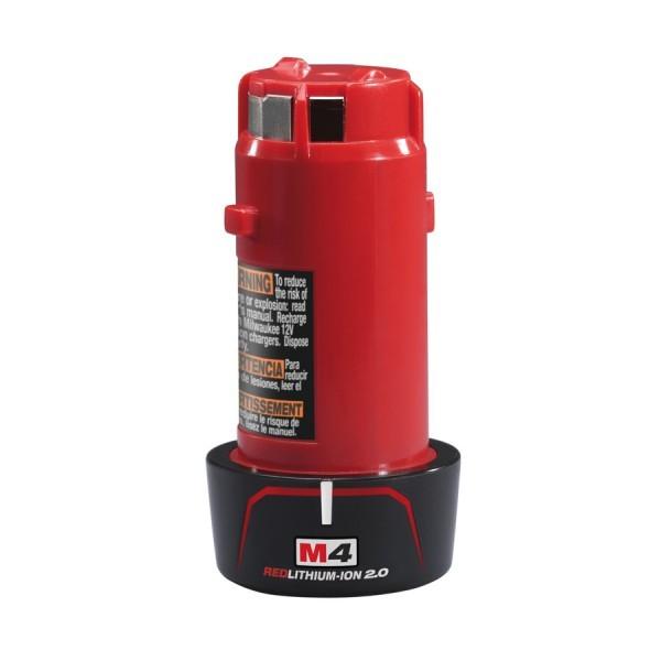 Milwaukee 1 Red Li-Ion Akku M4 B2 (4 V/2.0 Ah Li-Ion)