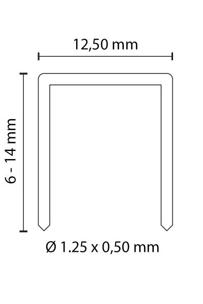 DUOFAST HEFTKLAMMERN TYP 50 8 MM LÄNGE | ROSTFREI 1.4301
