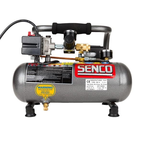 SENCO Kompressor PC1010EU mit einer effektiven Liefermenge von 20 Liter pro Minute und Superleise.