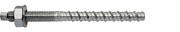 Mungo MCS-A-ST Betonschraube mit metrischem Anschlussgewinde inkl. Mutter und U-Scheibe DIN 125A