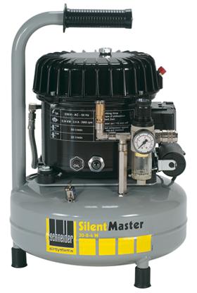 Schneider Kompressor SilentMaster SEM 50-8-9 W Druck 8bar. Liefermenge eff. 36 Liter / min.