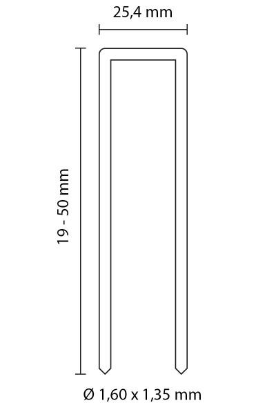 SENCO HEFTKLAMMERN TYP P | ROSTFREIER Stahl 1.4301 | 50 MM LÄNGE