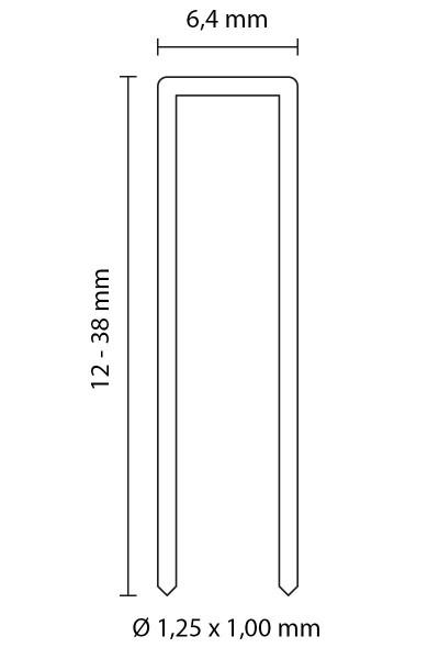 SENCO HEFTKLAMMERN TYP L | ROSTFREIER STAHL 1.4301 | 38 MM LÄNGE