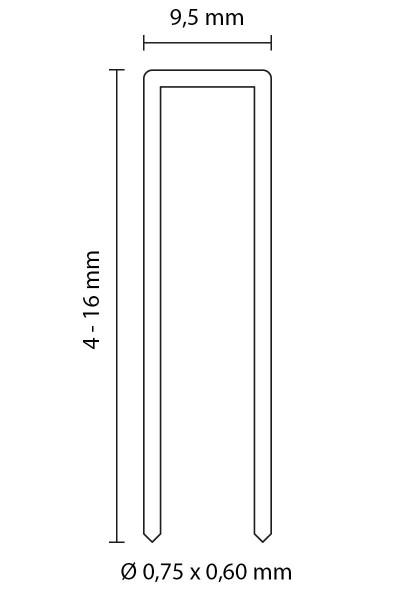 SENCO HEFTKLAMMERN TYP C | Rostfreier Stahl 1.4301 | 8 MM LÄNGE