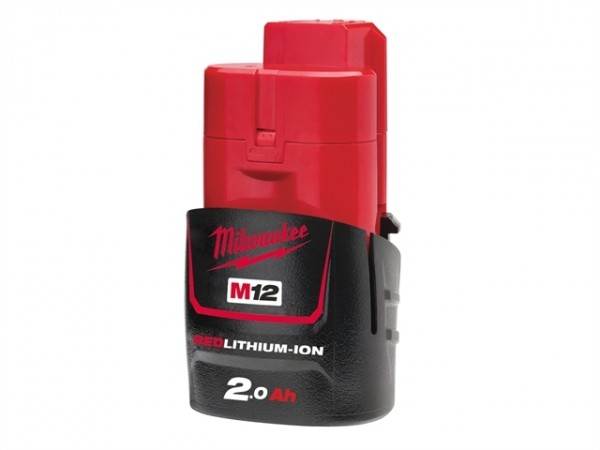 Milwaukee 1 Red Li-Ion Akku M12 B2 12V/2.0Ah