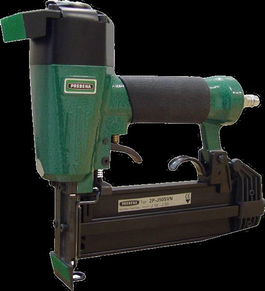 Prebena Glasleistennagler Modell 2P-J50SVN von 16 - 50 mm inkl. Stauchkopfnägeln 30 mm.